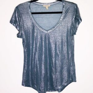 Blue sparkly top